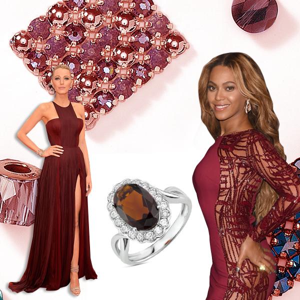 Гранат  Лучшие платья года цвета драгоценных камней