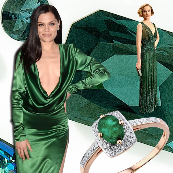 Изумруд  Лучшие платья года цвета драгоценных камней