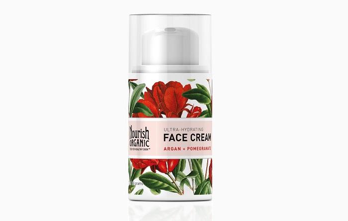 Суперувлажняющий крем для лица с арганой и гранатом Ultra-Hydrating Organic Face Cream With Argan