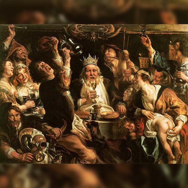 «Бобовый король», Якоб Йорданс (1638)