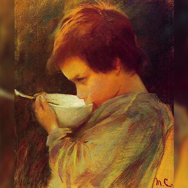 «Ребенок с молоком», Мари Стивенсон Кассат  (1868)