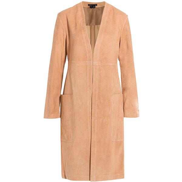 Замшевое пальто Theory