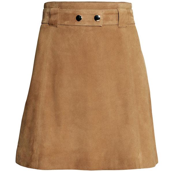 Замшевая юбка H&M