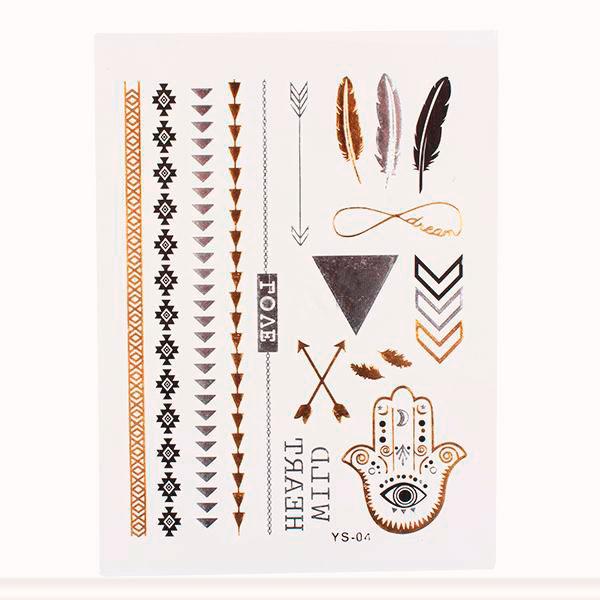 Временная татуировка «Браслеты и стрелы» 590 руб.1 Тестируем татуировки, золотые и временные