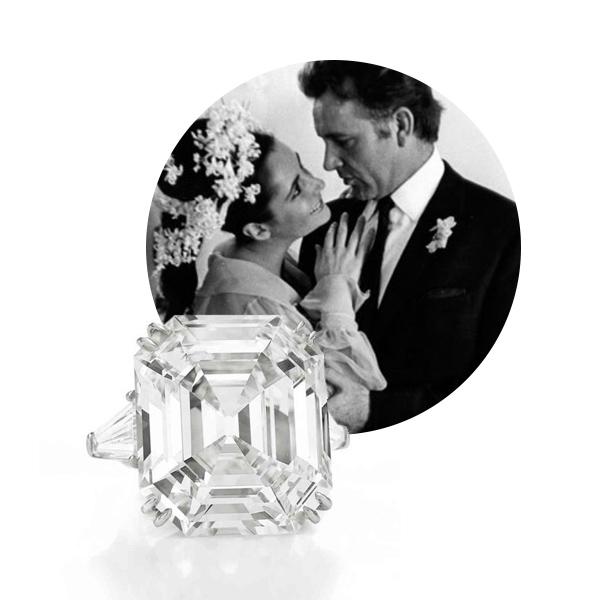 Помолвочное кольцо Элизабет Тейлор