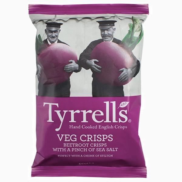 Натуральные свекольные чипсы от Tyrrells