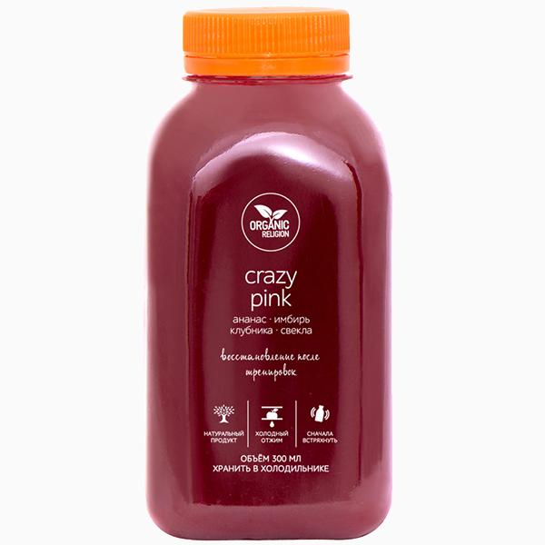 Функциональный сок Crazy Pink от Organic Religion 330 руб. Чем быстро и полезно перекусить в пробке