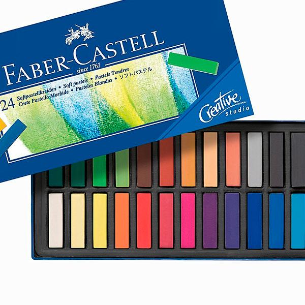 Набор сухой пастели Goldfaber от Faber-Castle 24 цвета
