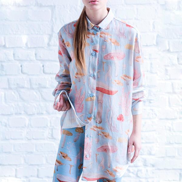 Пижамная рубашка oversized от Les' 16 000 руб. 6 российских марок, у которых можно найти вещи для беременных